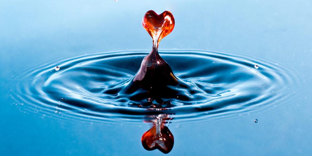 Goutte d'eau coeur